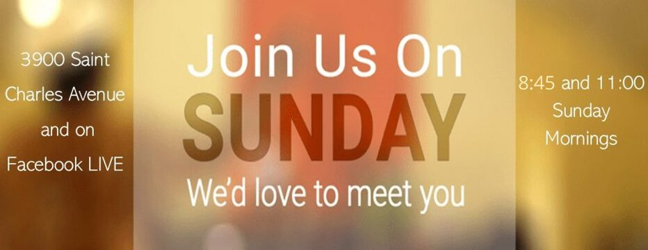 join us on sunday banner